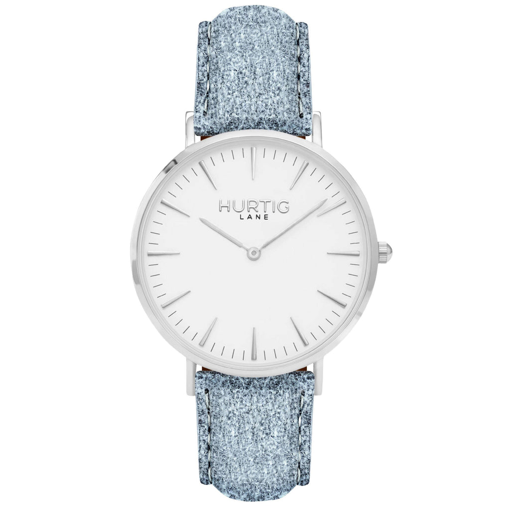 Hymnal Vegan Watch Tweed Silver, White & Grey - Hurtig Lane - sustainable- vegan-ethical- cruelty free