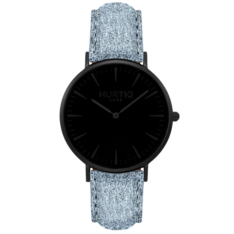 Hymnal Vegan Watch Tweed All Black & Camel Brown - Hurtig Lane - sustainable- vegan-ethical- cruelty free