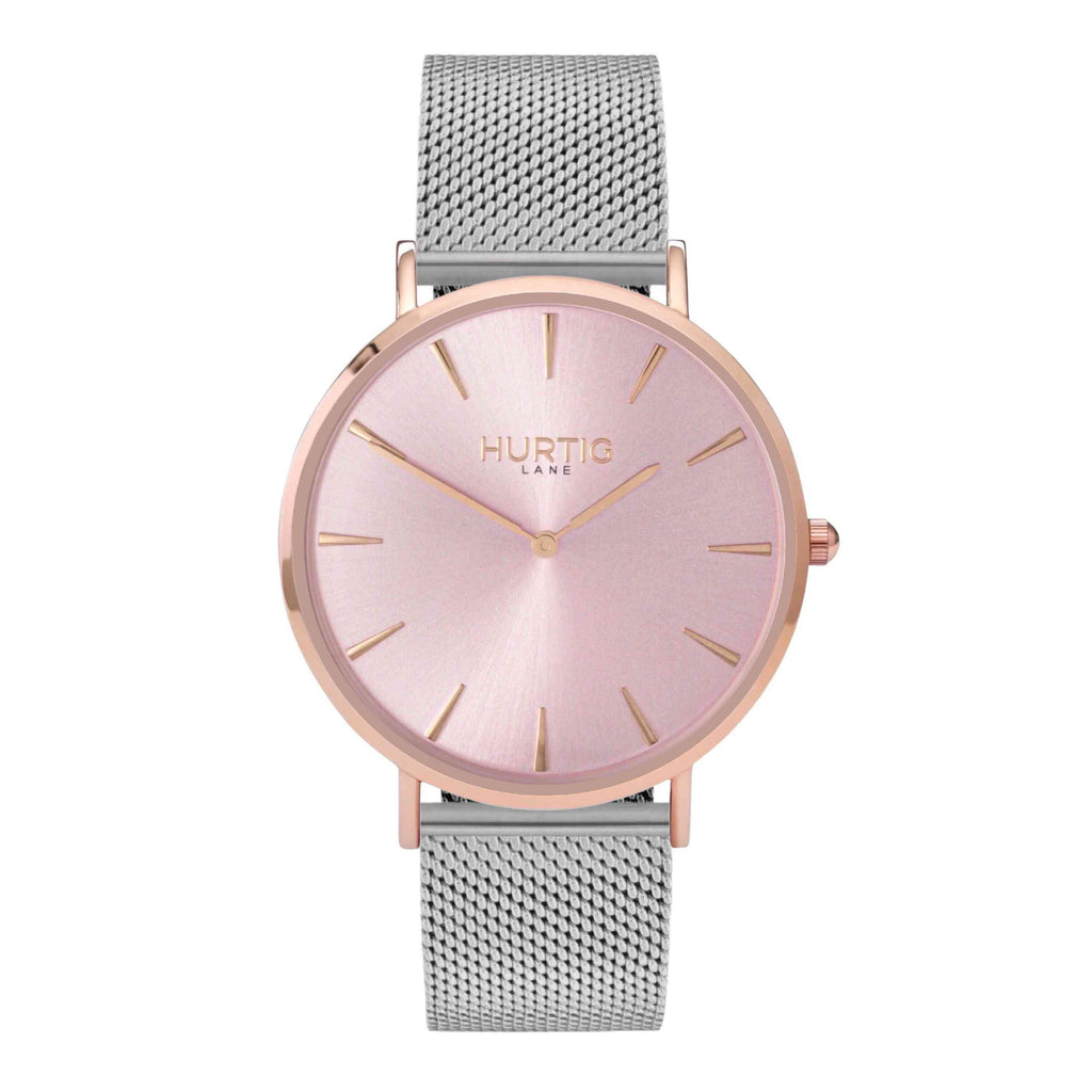 Lorelai Stainless Steel Watch All Rose Gold - Hurtig Lane - sustainable- vegan-ethical- cruelty free