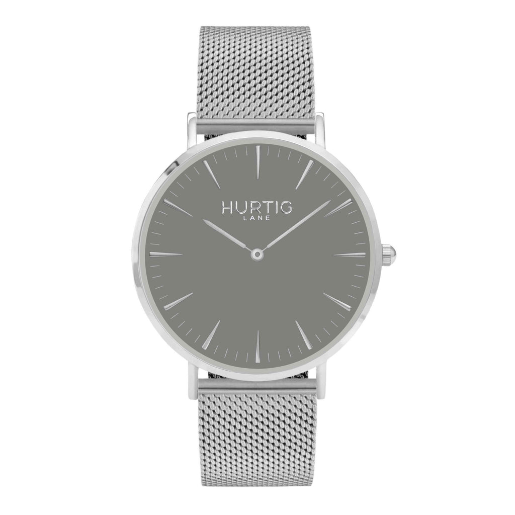 Lorelai Stainless Steel Watch Silver, Grey & Rose Gold - Hurtig Lane - sustainable- vegan-ethical- cruelty free