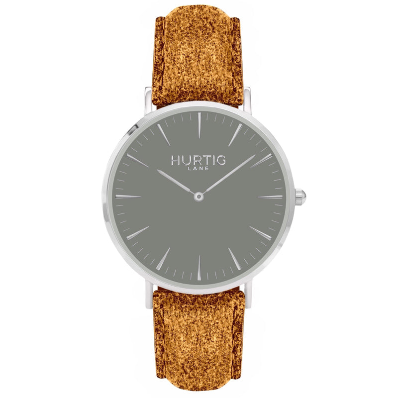 Hymnal Vegan Watch Tweed Silver, Grey & Grey - Hurtig Lane - sustainable- vegan-ethical- cruelty free