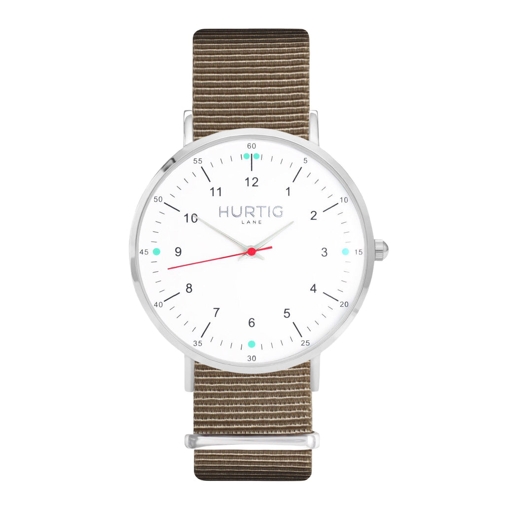 men's beige nato watch