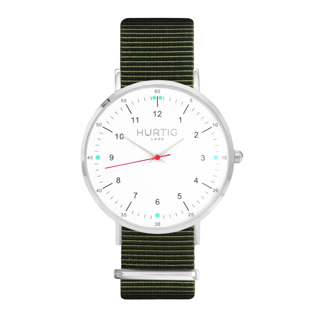 men's green nato watch