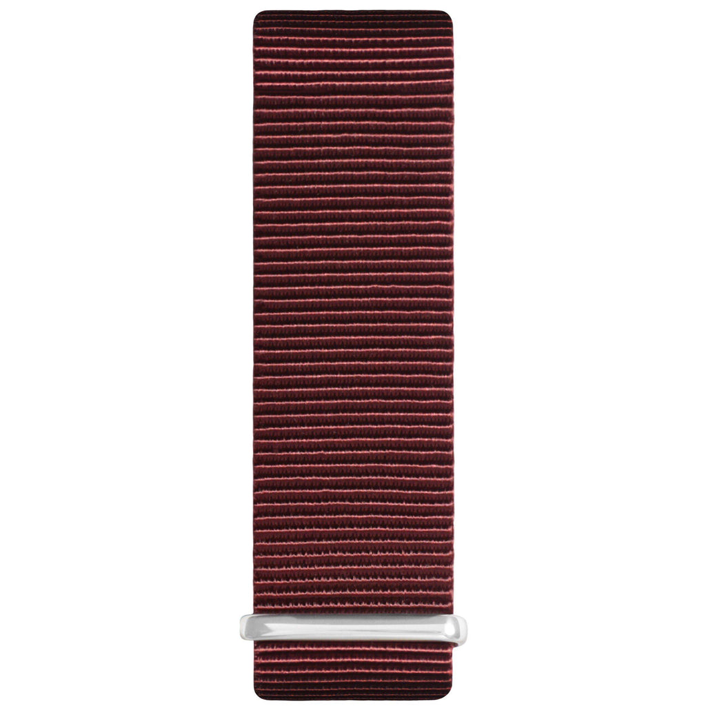Maroon and Rose Gold Nylon Nato Strap