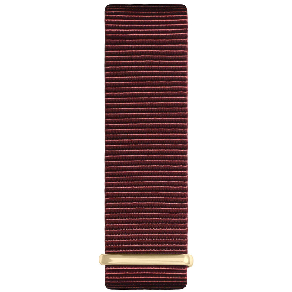 Maroon and Gold Nylon Nato Strap watch strap Hurtig Lane Vegan Watches