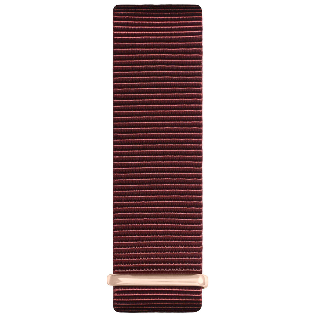 Maroon and Silver Nylon Nato Strap