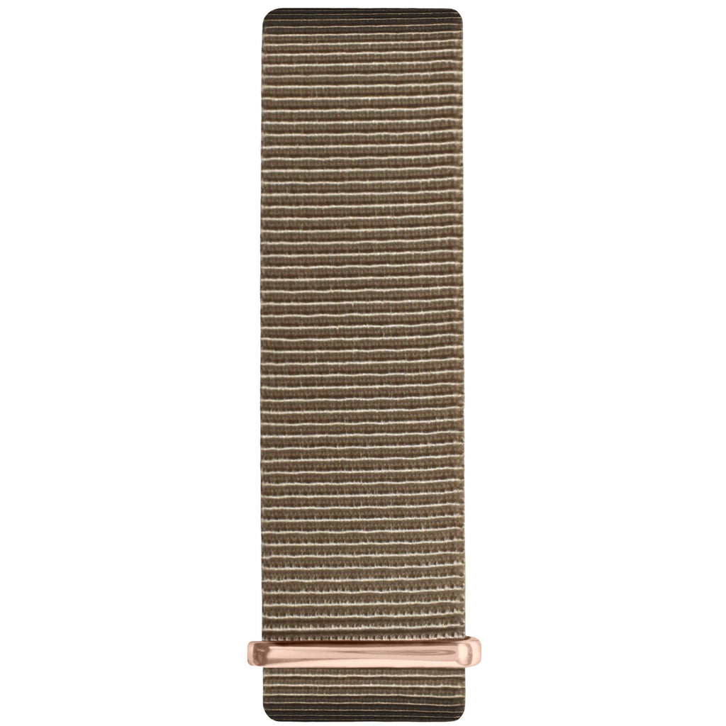 Sand and Rose Gold Nylon Nato Strap - Hurtig Lane - sustainable- vegan-ethical- cruelty free