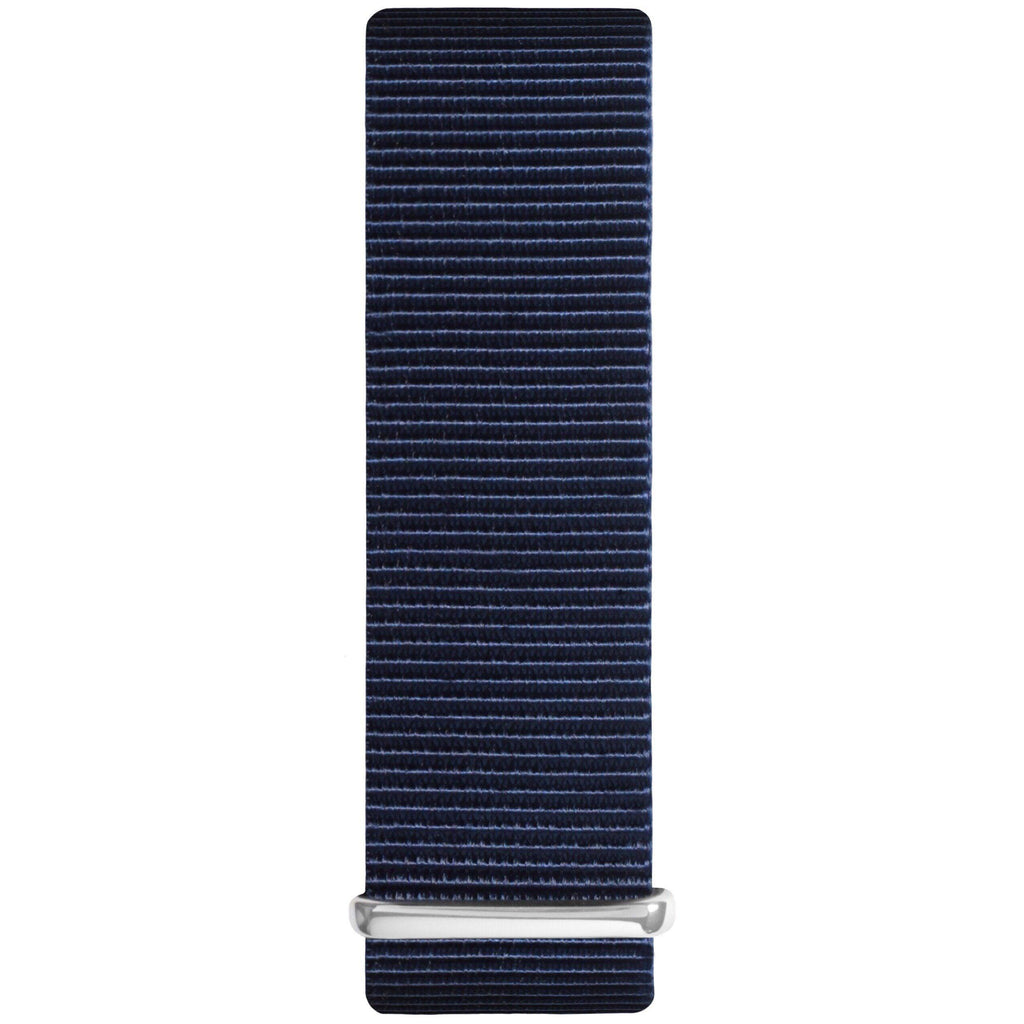 Ocean Blue and Silver Nylon Nato Strap watch strap Hurtig Lane Vegan Watches