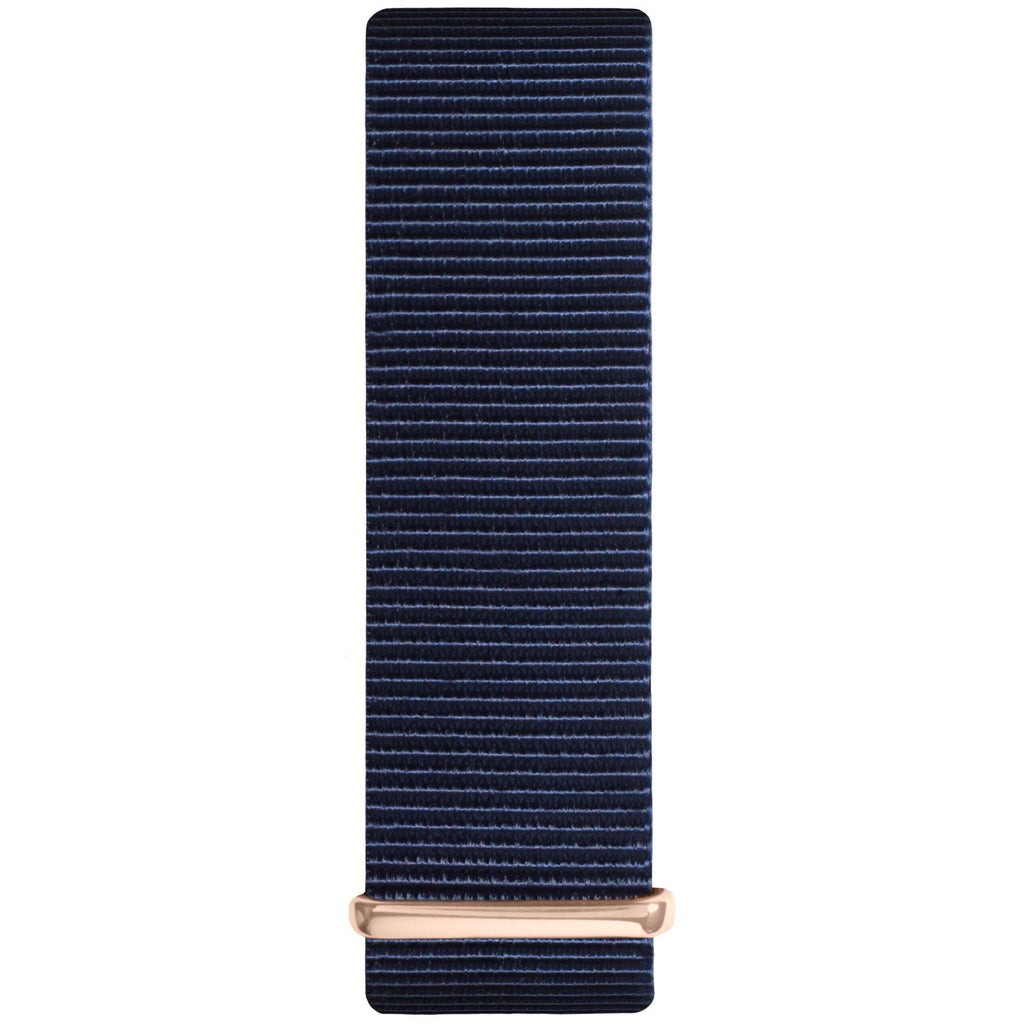 Ocean Blue and Rose Gold Nylon Nato Strap watch strap Hurtig Lane Vegan Watches