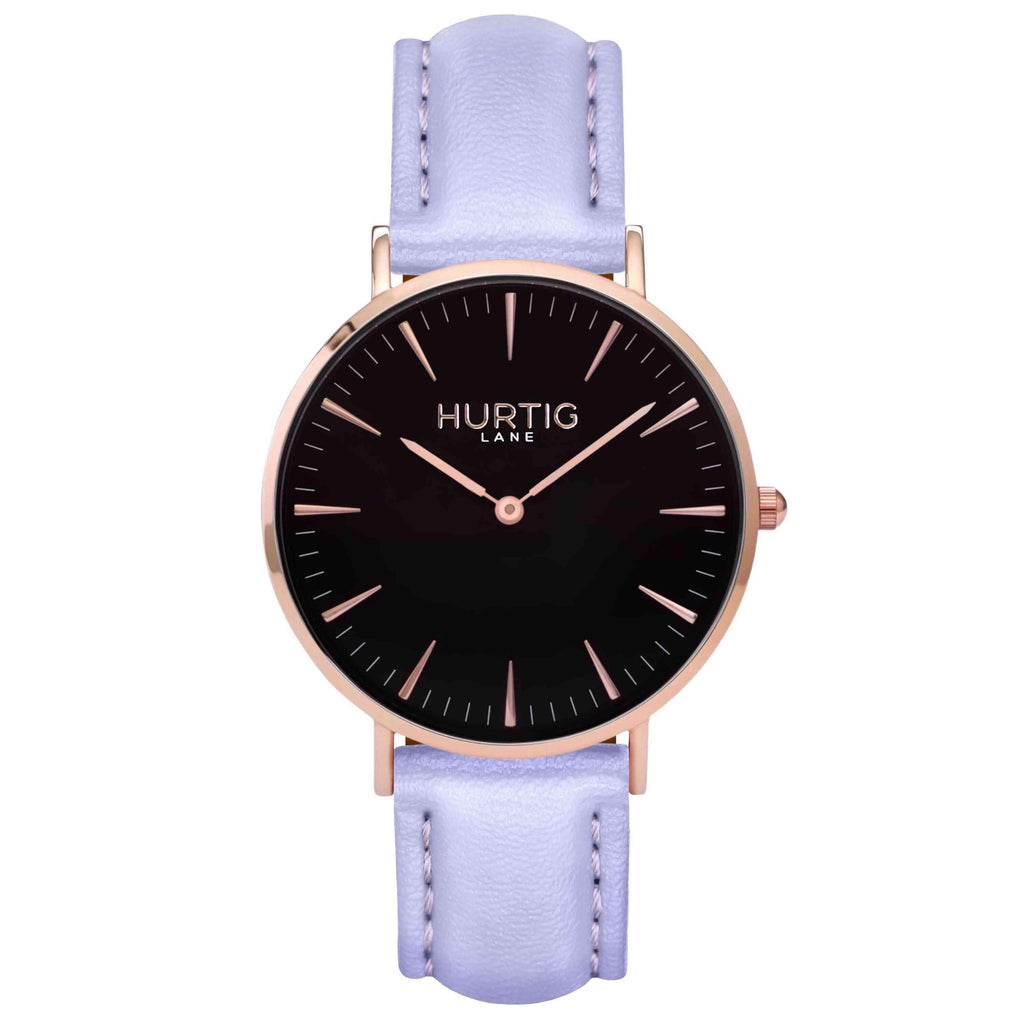 hurtig lane vegan watch rose gold and lilac- vegane uhr