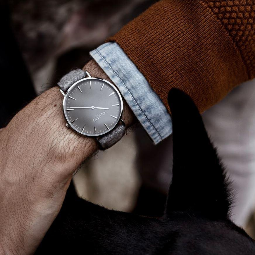 Hymnal Vegan Tweed Silver/Grey/Grey Watch Hurtig Lane Vegan Watches