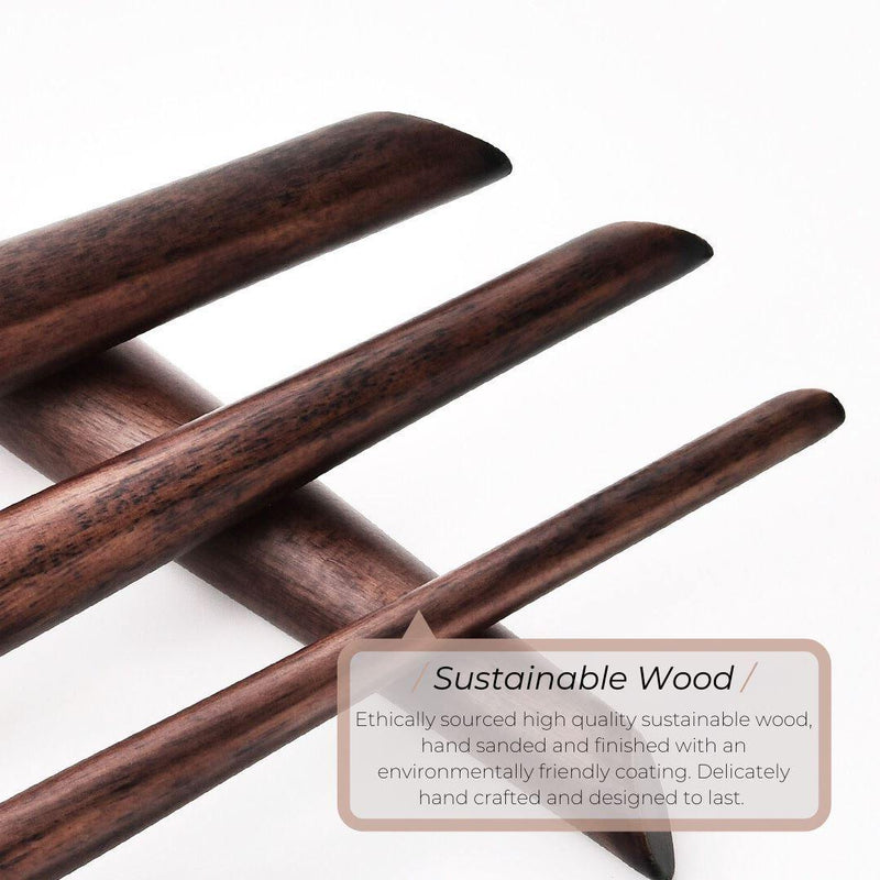 Vegan Eyeshadow Blender Makeup Brush - Sustainable Wood and Black Makeup Brushes Hurtig Lane