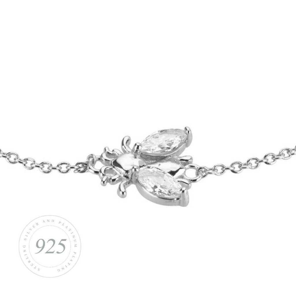 Bee Lovely Brilliance Silver Bracelet Jewellery Hurtig Lane Vegan Watches