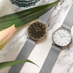 Lorelai Stainless Steel Silver/White/Silver Watch Hurtig Lane Vegan Watches