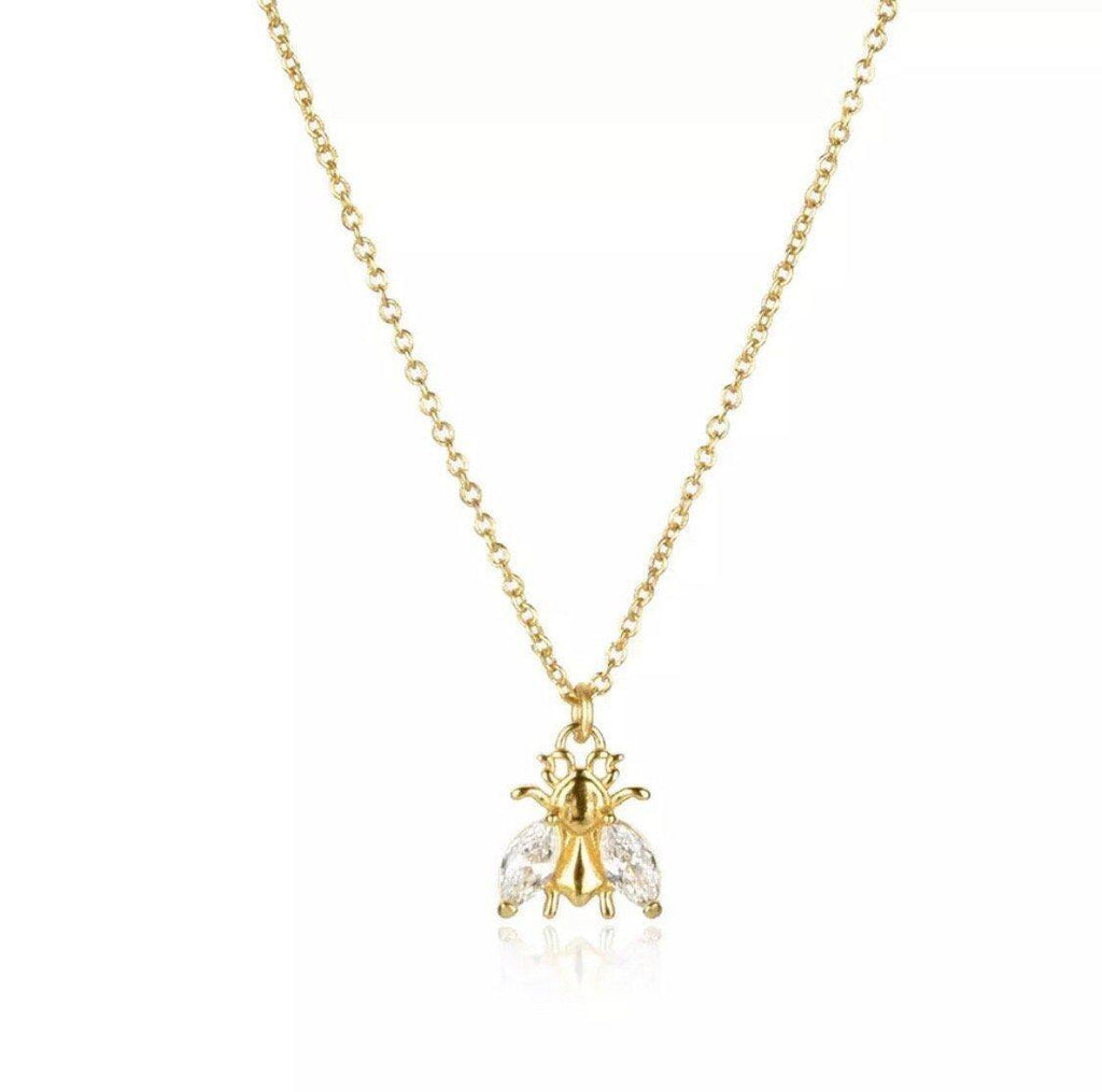 Bee Lovely Brilliance Gold Necklace Jewellery Hurtig Lane Vegan Watches