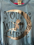 Young Wild & Three Swinging Fairy Shirt, Girls 3rd Birthday