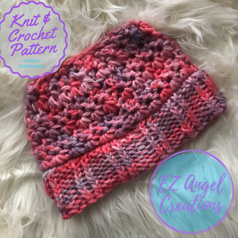 Starlight Zoie Knit Brim Crochet Hat Pattern - PATTERN FILE ONLY