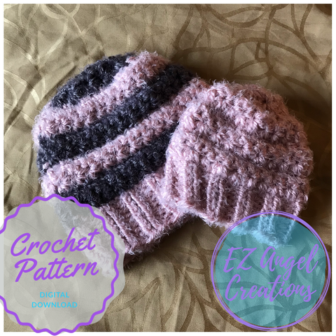 Starlight Zoie Crochet Hat Pattern - PATTERN FILE ONLY