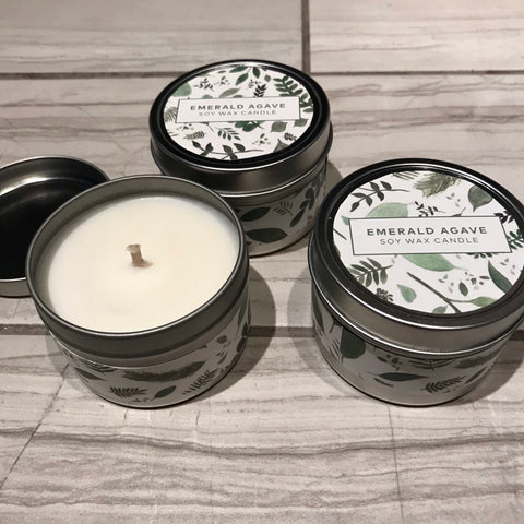 Emerald Agave Soy Wax Candle