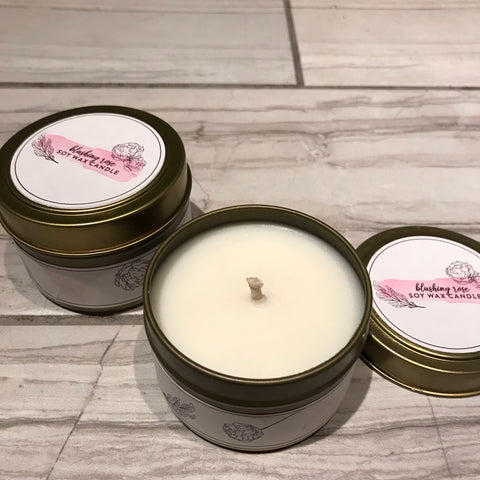 Blushing Rose Soy Wax Candle