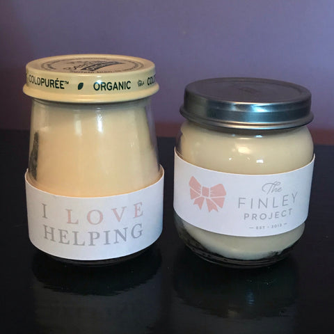 Baby Food Jar Candles - supporting The Finley Project