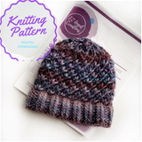 Starlight Zoie Knit Hat Pattern - PATTERN FILE ONLY