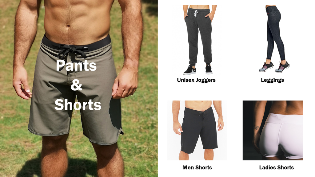 Customize your shorts and joggers