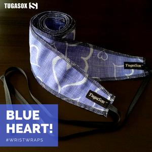 Blue Heart Wrist Wraps