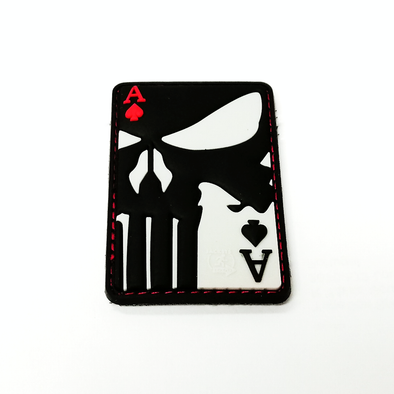 Punisher Ace of Spades 3D pvc patch