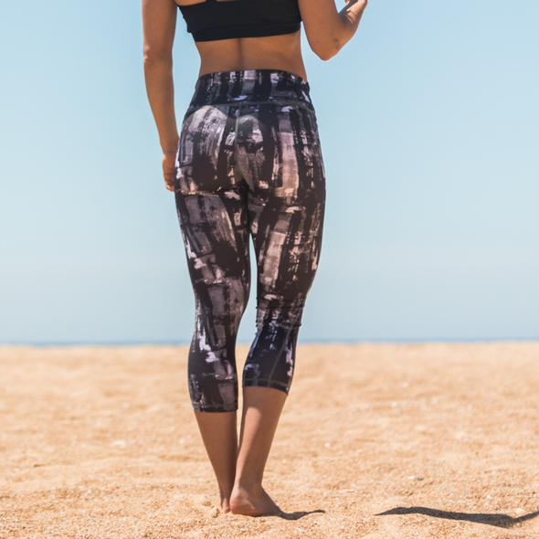 Cropped Leggings Carbon B&W | Carbon B&W Cropped Leggings