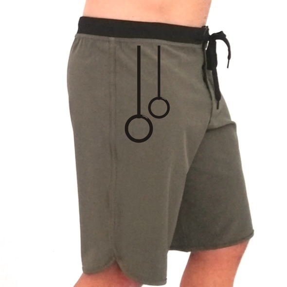 Calções Masculinos Cross Arade - Verde militar | Customized Men Shorts Cross Arade - Army green