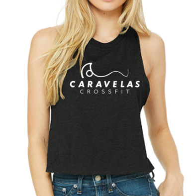 Racerback Crop Tank - Caravelas CrossFit | Ladies Crop Tanks - Caravelas CrossFit