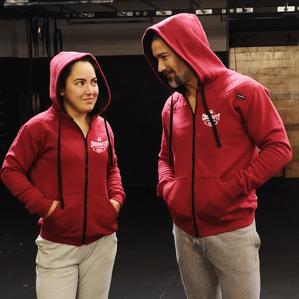 Casacos Unisexo - D. Red CrossFit Castelo Branco | Unisex Full zipper hoodies - CrossFit Castelo Branco