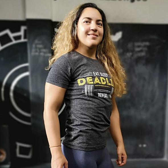 Eat, Sleep, Deadlift, Repeat - Ladies T-Shirt