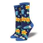 Aloha Floral Ladies Crew socks