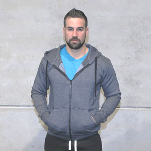 Storm Grey - Men's Zipper Hoodie | Storm Grey - Men's full zipper hoodie
