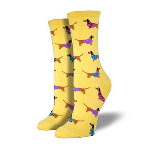 Haute Dogs Ladies Crew socks