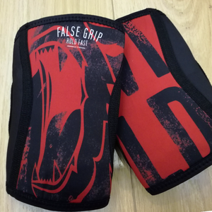 Knee Sleeves Wild Bear by False Grip (black/red)