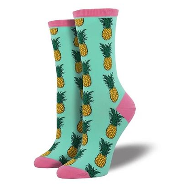 Pineapple Ladies Crew socks