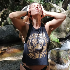 Fuerza Cabron - Crop Tank - Gold Edition