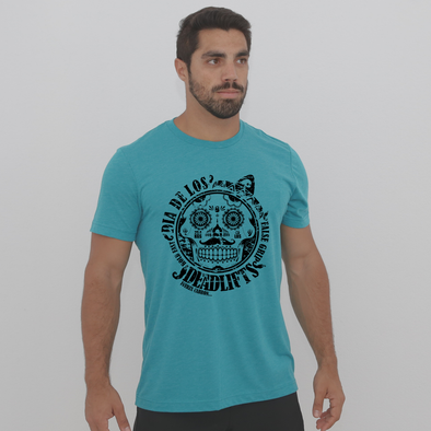 Fuerza Cabron XL- Teal - Men t-shirt
