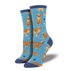 Golden Retriever - Ladies Crew socks