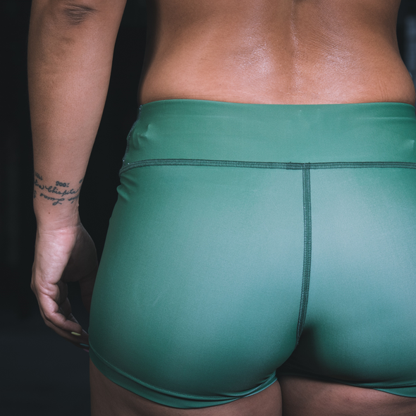 Three Wise Girls - Squat and Lift Green Shorts