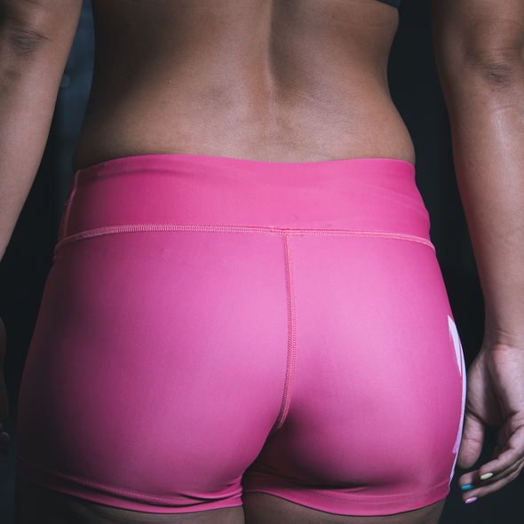 Three Wise Girls - Squat and Lift Pink Shorts