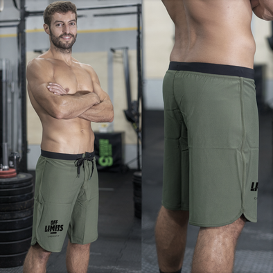 Calções Masculinos Olive Green - Off Limits CrossFit | Customized Men Shorts Olive Green - Off Limits CrossFit