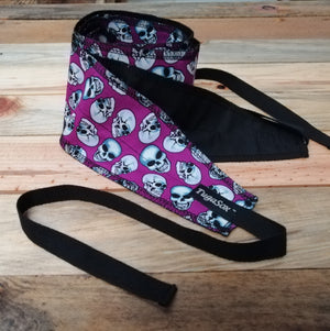 Purple Skulls Wrist Wraps
