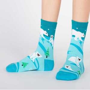 Polar Bear - Kids Crew  Socks (3-6 yrs)