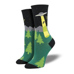 Alien Abduction Ladies Crew socks