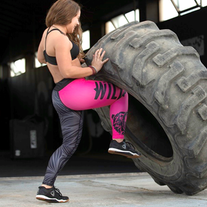 "Pink Berry Leggings - ""Wild"" collection by False Grip"
