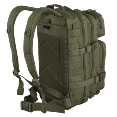 Mochila Mil-Tec Laser Cut Assault Pack - Olive / Black  | Backpack Mil-Tec Laser Cut Assault Pack - Olive / Black